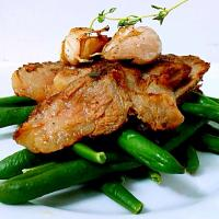 Steak with string beans