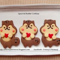 Squirrels with love ~ butter cookies ~
