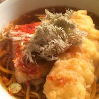 Cold nite!... Chicken tempura soba