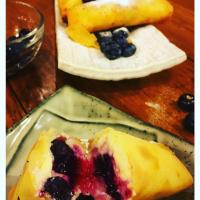 Fried Blueberry Cheesecake Rolls