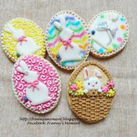 Easter eggs icing cookies