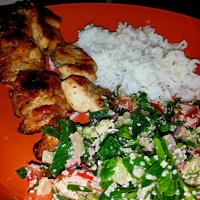 Tabbouleh and chicken bbq for dinner