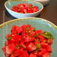 Watermelon, jalapeno, basil and lime