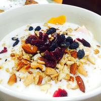 mixed nuts yogurt