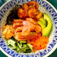 California Salmon Shrimp Sushi Bowl