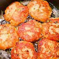 Salmon croquettes Cooked In Vegetable Oil