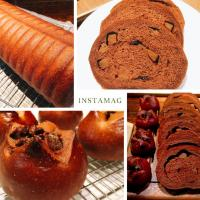 The other day   Cocoa and Chocolate bread •*¨*•.¸¸♬☕️