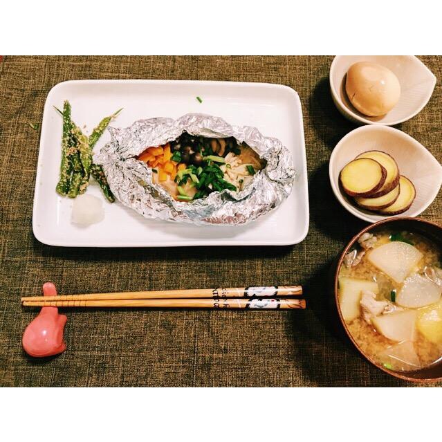 ホイル 焼き フライパン 鮭 の