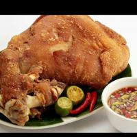 crispy pata and the spicy sawsawan..:-) :-) :-)