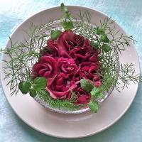 izoomの料理 バラのアミューズ 紫キャベツのピクルス 🌹 【Amuse bouche of roses made of red cabbage pickles】