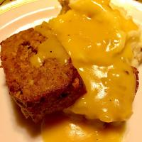 #Meatloaf Mashed potatoes and #gravy! #Homemade