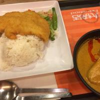 Fish fillet with curry sauce