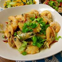 Thermomix spicy prawn
