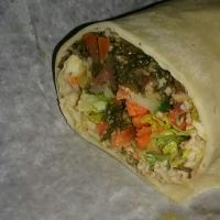 the wicked veggie wrap.