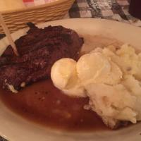 T-Bone Steak w/Garlic Mashed Potatoes