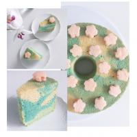 Chiffon cake inspired by spring