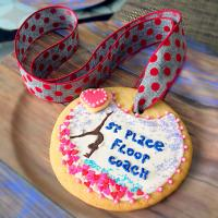 🍪 Cookie Medal for Gymnastic Coach🍪 made by 8 year old💗
