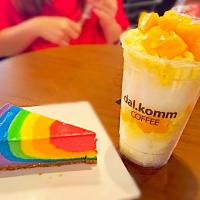 dessert... #ice #snow #bingsu #mango #rainbowcake #rainbow #sweet #delicious #colours