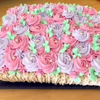 Basket flower cake