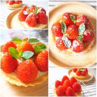Strawberry tarts, organic fresh strawberries run from the best quality farmer