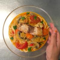 Thai Red Curry Pasta with Salmon