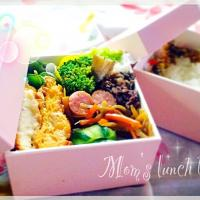 Mom's lunch box🍱( ꈍ .̮ ꈍ )ˈ‧ෆ*ファイトー!