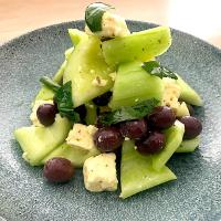 Cucumber, Feta, Olives and Rocket Salad
