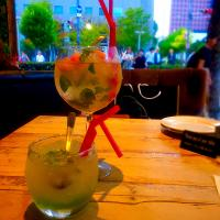 テラスでカクテル🍃Cocktail, Mojito🌿@factory cafe