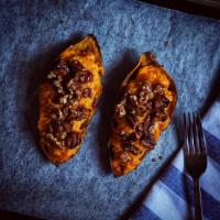 Maple Walnut Twice Baked Sweet Potato