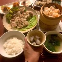 Today's Cantonese cuisine Dinner🍴飲茶〜♨️