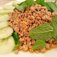 Larb Moo ( ลาบหมู )  - Minced pork spicy Thai salad.