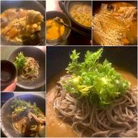 Let's finish it up w/Ramen& Buckwheat 👉🍲〆は卵付け坦々麺からの蕎麦