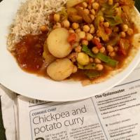 Chickpea & potato curry #veganuary (Morning Star's Commie Chef recipe)