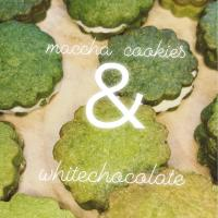 maccha cookies  &  white chocolate