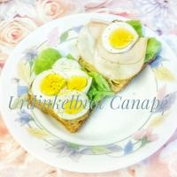 Urdinkelbrot Canapé  Urdinkelbread with Salad, Egg, really thin Chicken breast  such a nice breakfast together with a tea or coffee   #Breakfast/Brunch   #Urdin