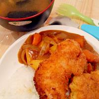 Japanese curry rice and breaded chicken #Japanese cuisine #japanese curry