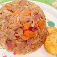 bacon and Hong Kong sausage fried rice