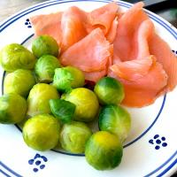 Smoked salmon and Brussels sprouts