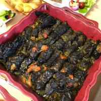 Sarmice od vinove loze🍇☘️🇷🇸 Grape leaves stuffed with meat and rice🍇🐣
