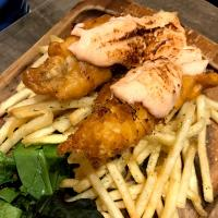 fish & chip with mentaiko sauce