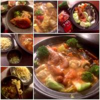 Tomato Seafood mixed Pot(of seafood&vegetables cooked at the table)🍲トマトシーフードLet's finish it up w/Ramen👉🍲〆は太麺
