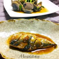 simmered mackerel with miso -
