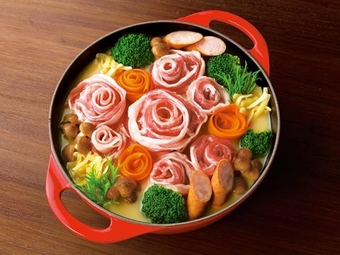 4種のチーズ花畑肉鍋/ヤマサ醤油公式アカウント