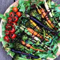 Roast baby carrots salad