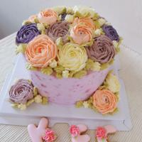 Flowers cake #buttercream #cake