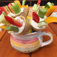 "Veggie ""ice cream"" for kids party"