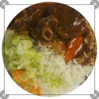 OXTAILS RICE AND CABBAGE