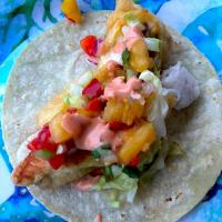 Baja Fish Taco with pineapple salsa