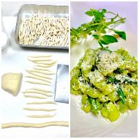 Trofie with Lemon Basil Pesto