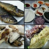 grilled fish for lunch at Soraepogu fish market